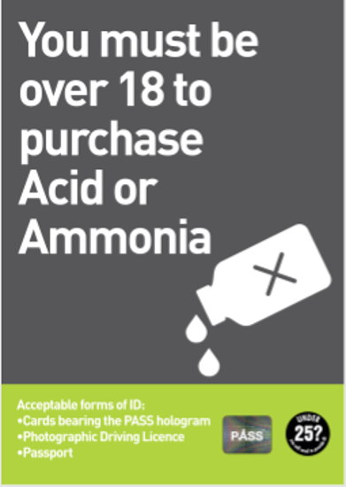 Design: Acid Poster - Over 18s to purchase Acid - Age Check Certification Scheme