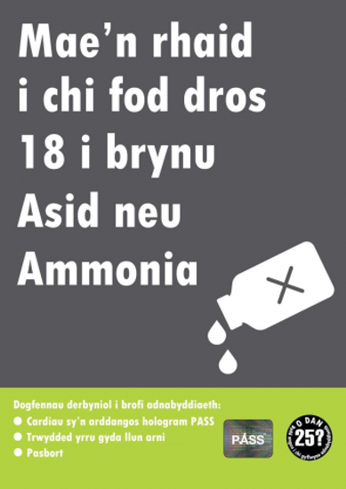 Picture of Acid Poster (Welsh Language)