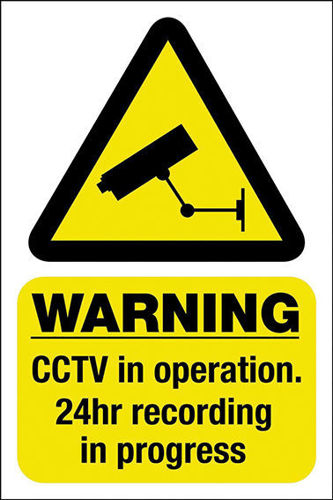 CCTV Warning Poster - Age Check Certification Scheme