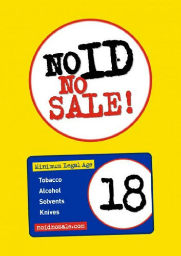 Picture of No ID No Sale Age Restricted Products Poster
