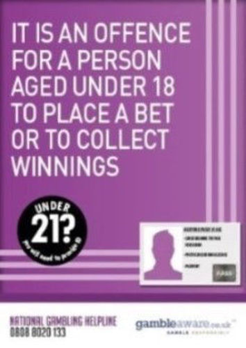 Picture of Offence to Bet / Collect Winnings Poster
