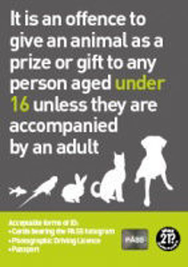 Picture of Offence To Give an Animal As A Prize / Gift to Anyone Under 16