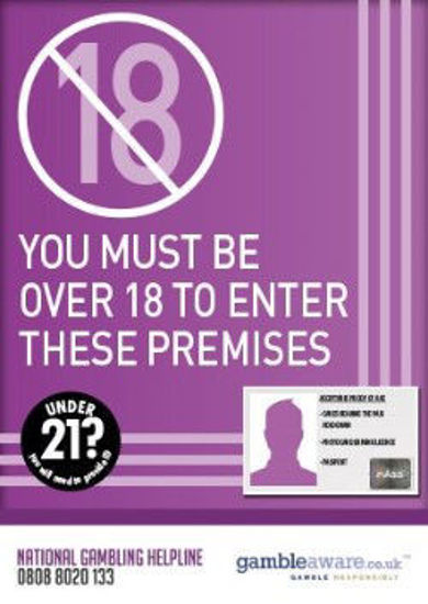 Picture of Over 18 To Enter These Premises Poster