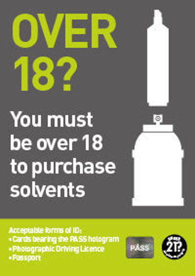 Picture of Over 18? Must be 18 To Purchase Solvents.
