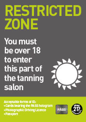 Picture of Over 18? Sunbed Restricted Zone
