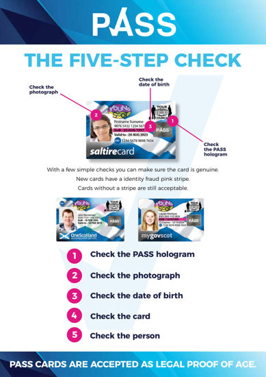 Picture of PASS 'Five Step Check' poster - (Scotland)