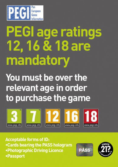 Picture of PEGI Age Ratings Poster