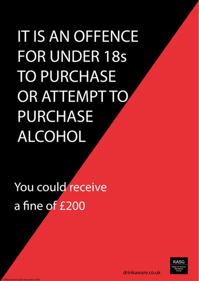 Picture of Scotland Underage Purchasing Warning Poster
