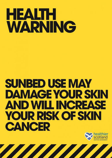 Picture of Sunbed Health Information - Scotland