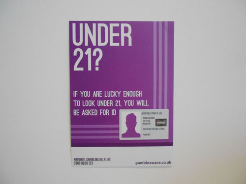 Picture of Think 21 Gambling Warning Poster