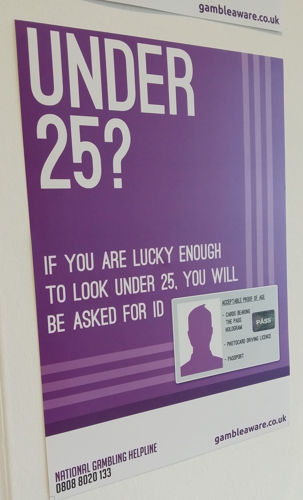 Picture of Think 25 Gambling Warning Poster