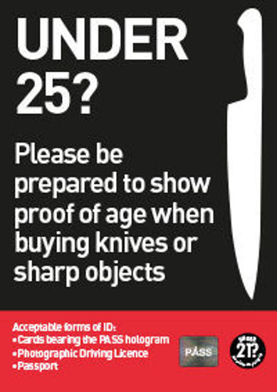Picture of Under 25? Proof of Age Required to buy a Knife