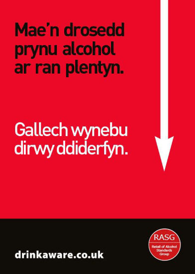 Picture of Warning for Proxy Purchasing Poster (Welsh Language)