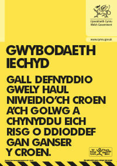 Picture of Welsh - Sunbed Health Information.
