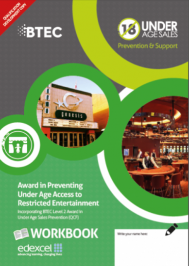 Award in Preventing Under Age Access to Restricted Entertainment- Age Check Certification Scheme