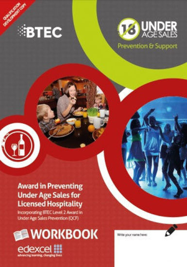 Award in Preventing Under Age Sales for Licensed Hospitality- Age Check Certification Scheme - Front Design
