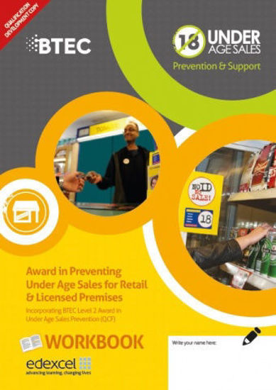 Picture of Award in Preventing Under Age Sales for Retail & Licensed Premises