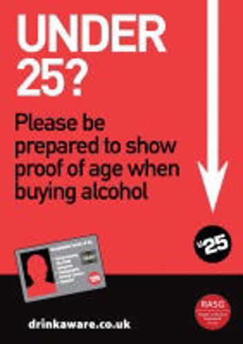 Picture of Challenge 25 For Alcohol Retailers - STICKER