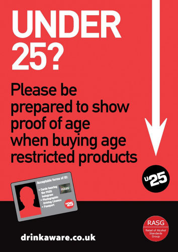 Picture of Challenge 25 Sticker for Age Restricted Products