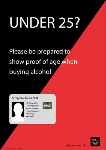Picture of Challenge 25 Sticker for Alcohol Retailers V2