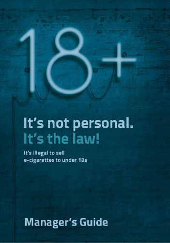 18+ Vape - Managers Guide - Design - Age Check Certification Scheme