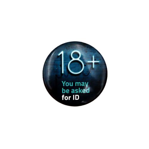 18 + Vape - Badge - Age Check Certification Scheme - Real Photo