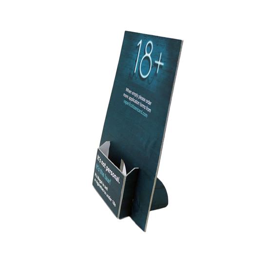 18 + Vape - Citizencard Leaflet Dispenser  - Real Photo