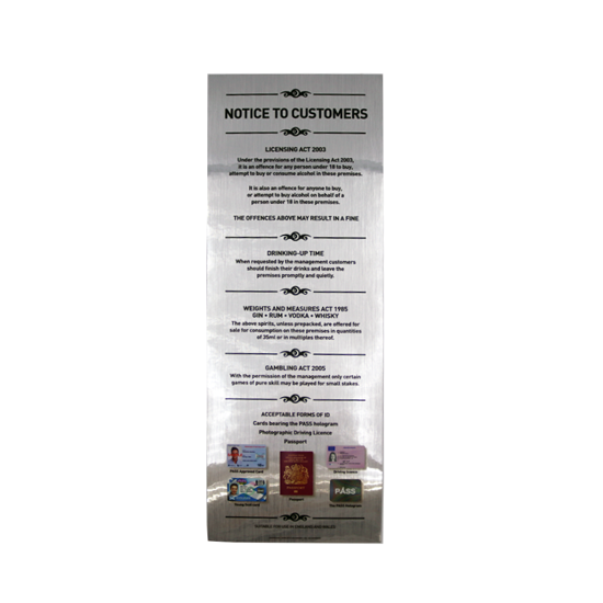 35ml Four-in-one Law Sign - ACCS -