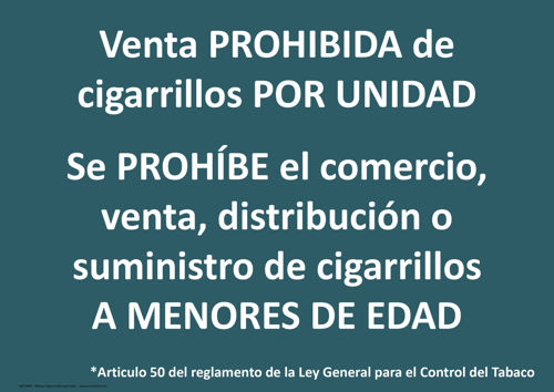 Mexico Tobacco Warning Poster - Age Check Certification Scheme
