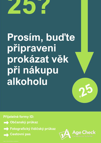 Czech Under 25 Alcohol Warning Poster