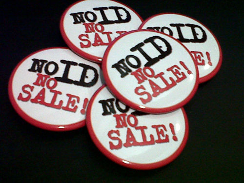 Picture of No ID No Sale Badges
