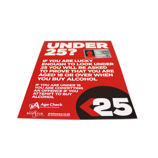 Beer and Pub Association U25 A4 Poster | Challenge 25 | Age Check Certification Scheme